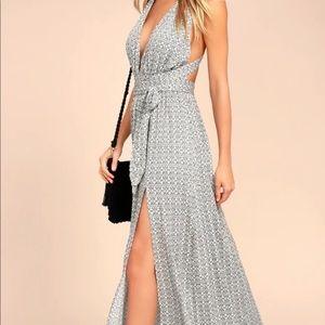 Casablanca Queen Black and White Print Max Dress